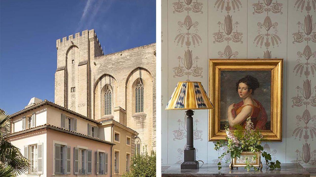 Adossé aux Palais des Papes, l'établissement cultive le style Siècle des lumières.