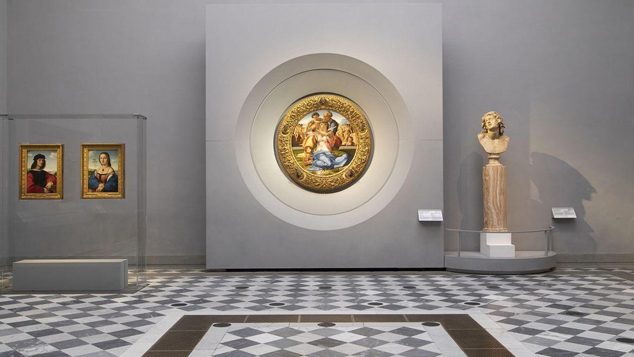 La rénovation des Offices, qui devrait s'achever en 2023, a déjà créé quatorze nouvelles salles. Ici, l'une de celles consacrées à Raphaël et Michel-Ange.