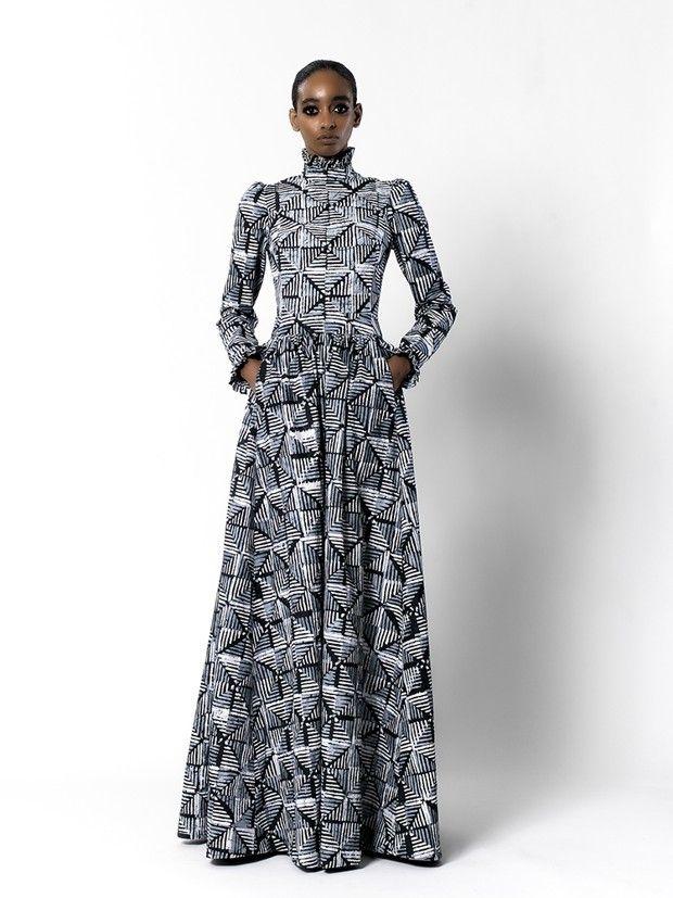 Modèle Imane Ayissi Couture, printemps-été 2021.