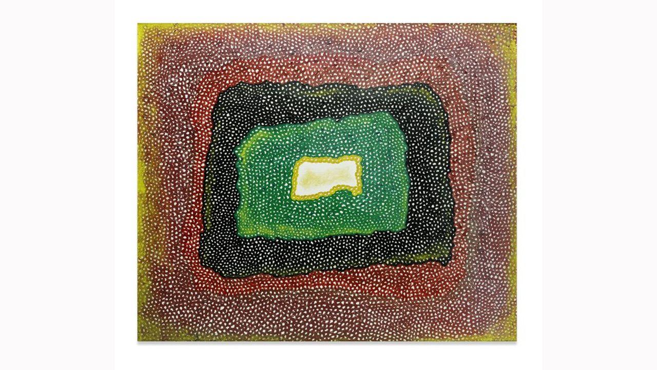 Cette oeuvre sans titre de YAyoi Kusama (env. 1965), en vente chez Bonhams à NewYork, le 12mai 2021, est estimée 2,1 à 2,9millions d'euros.