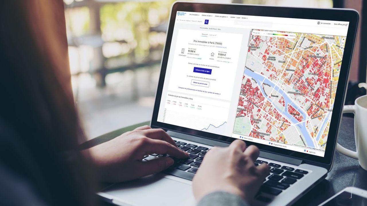 L'exploitation des données immobilières permet de réaliser des cartes de prix très précises.