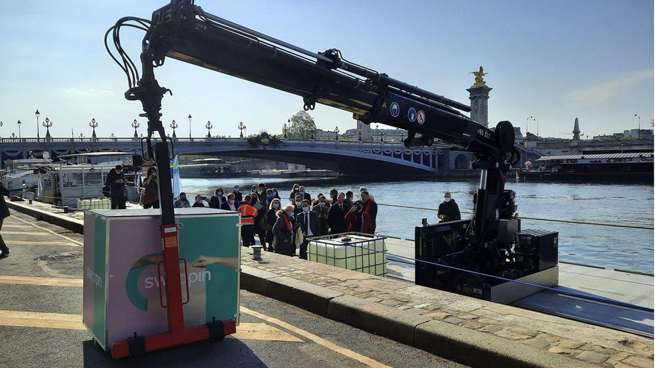 A partir de la fin 2020, deux barges, dont une à hydrogène, devraient desservir la capitale pour les livraisons de proximité.