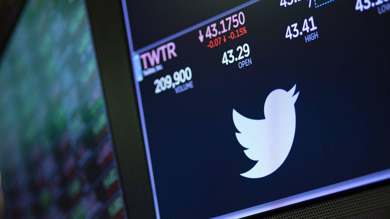 A Wall Street, Twitter a aujourd'hui une capitalisation boursière de près de 43milliards de dollars