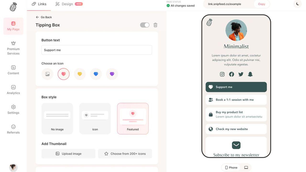L'outil de Snipfeed se présente comme un «salesforce» capable de gérer toutes les interactions payantes entre les influenceurs et leurs fans.