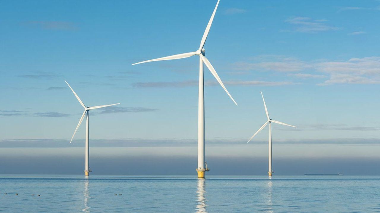 Les éoliennes seront flottantes et non pas posées au sol, comme c'est le cas pour les autres parcs.