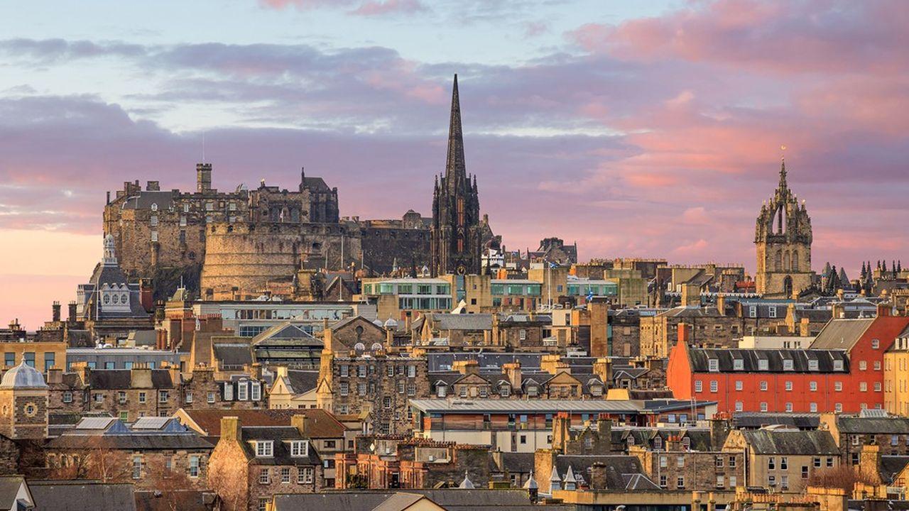 La vieille ville et le château d'Edimbourg.