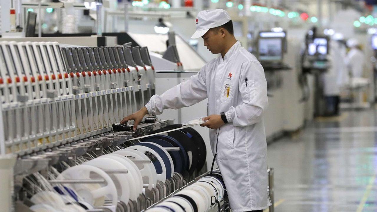 Une usine de l'équipementier de télécoms Huaweià Dongguan, dans la province de Guangdong.