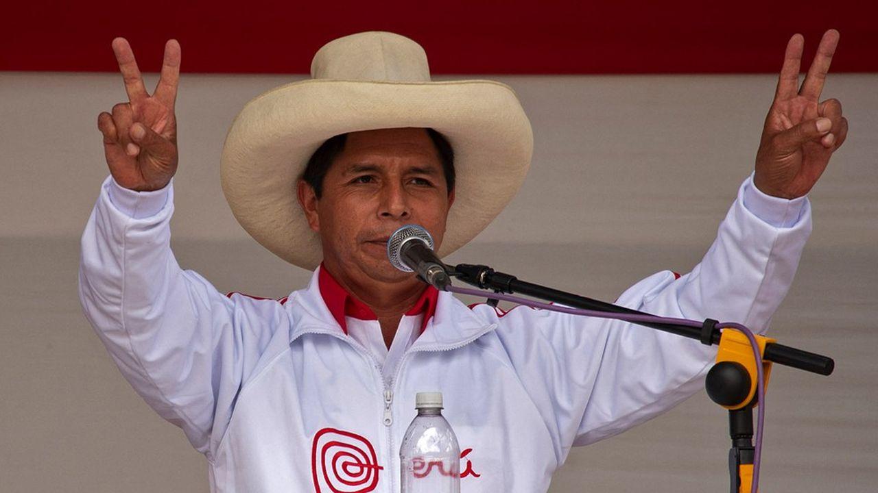 Le candidat du parti de gauche radical péruvien, Pedro Castillo, est bien placé pour remporter la présidentielle du 6juin