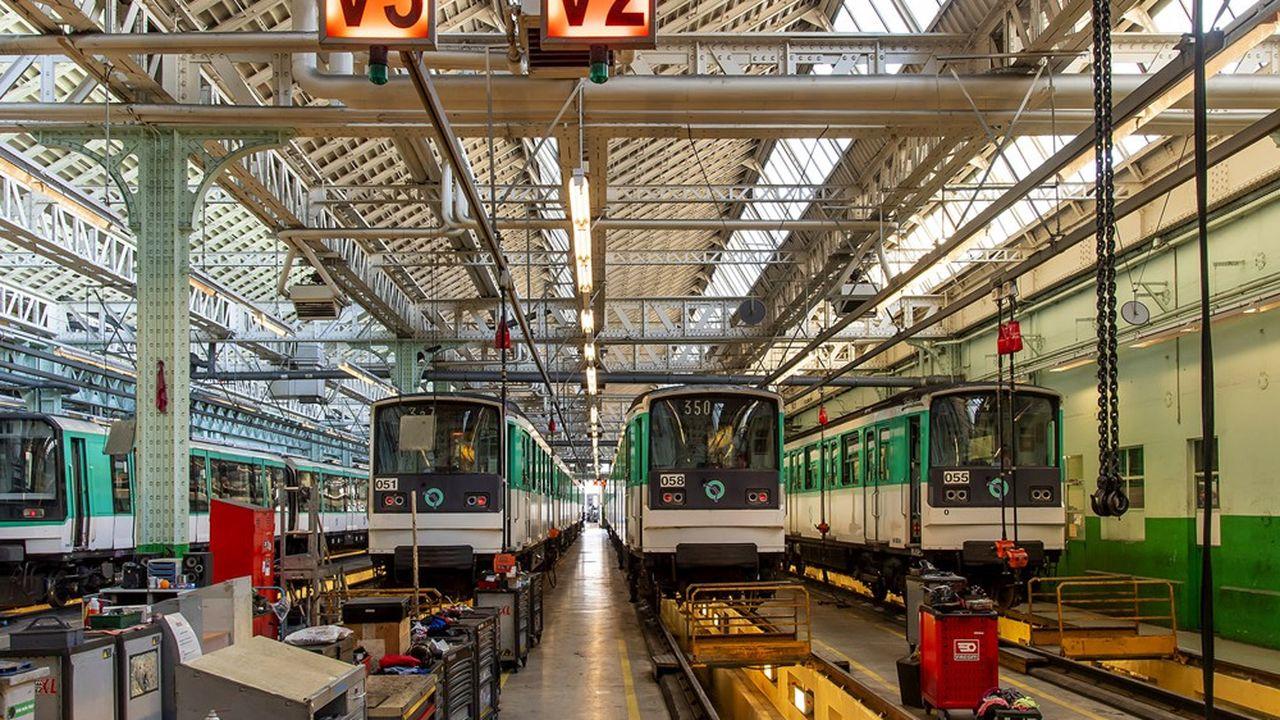 La RATP transforme son atelier de maintenance des trains (AMT) de Belgrand-Saint Fargeau, qui emploie 60 personnes.