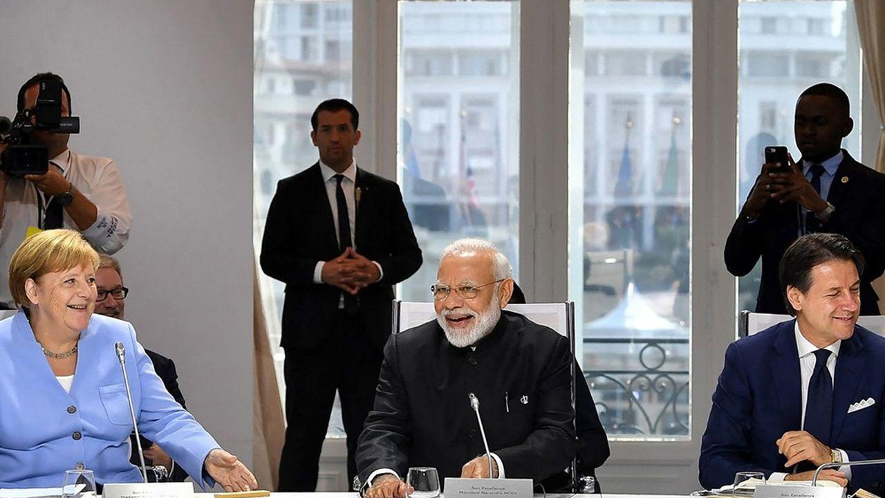C'est la première fois que les dirigeants européens seront réunis en plénière face à un Premier ministre indien (ici, Narendra Modi photographié en 2019).