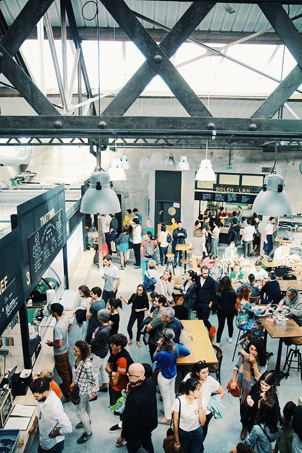 La Commune, le premier food court ouvert à Lyon, en mars 2018, accueille une quinzaine de stands.