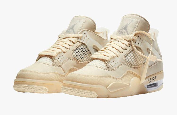 Cette paire de baskets Off White X Air Jordan 4Sail se négocie autour de 1300 euros.