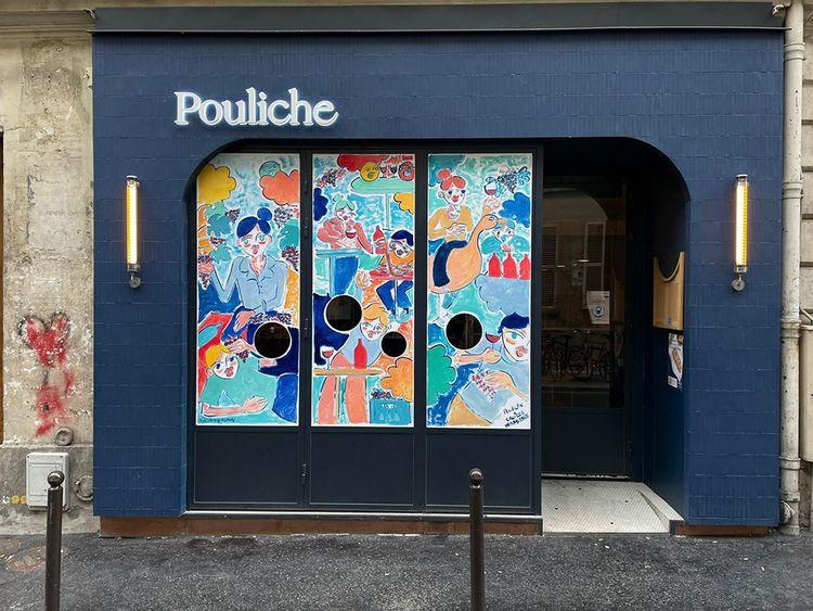 La fresque du restaurant d'Amandine Chaignot.