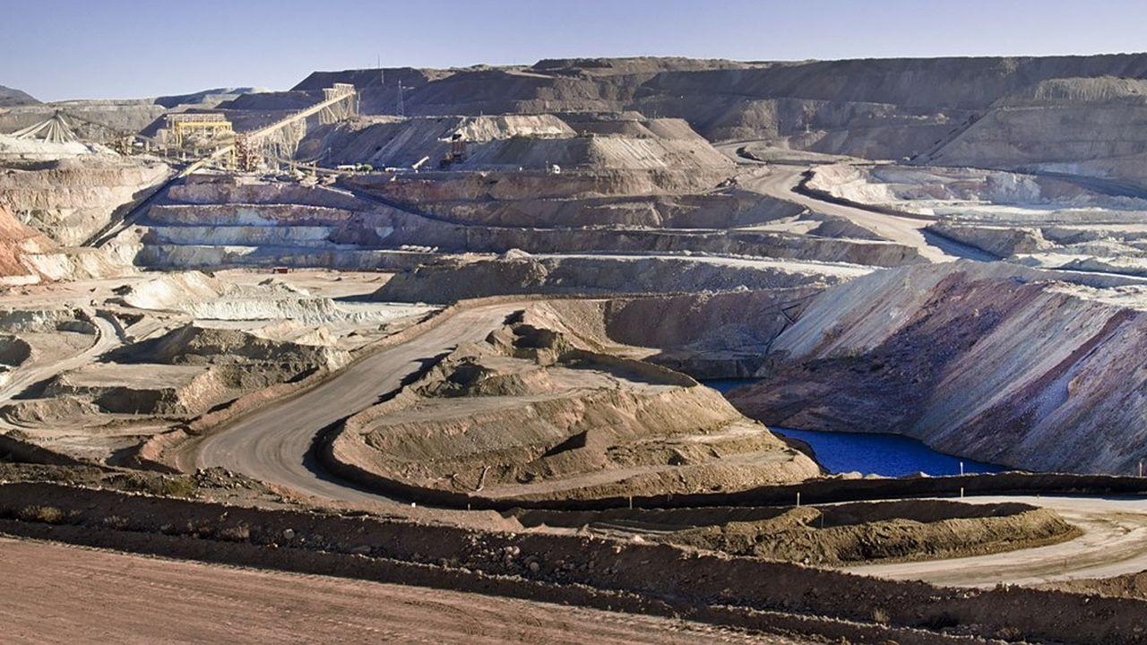 Une mine de cuivre au Chili dans la région du Coquimbo.