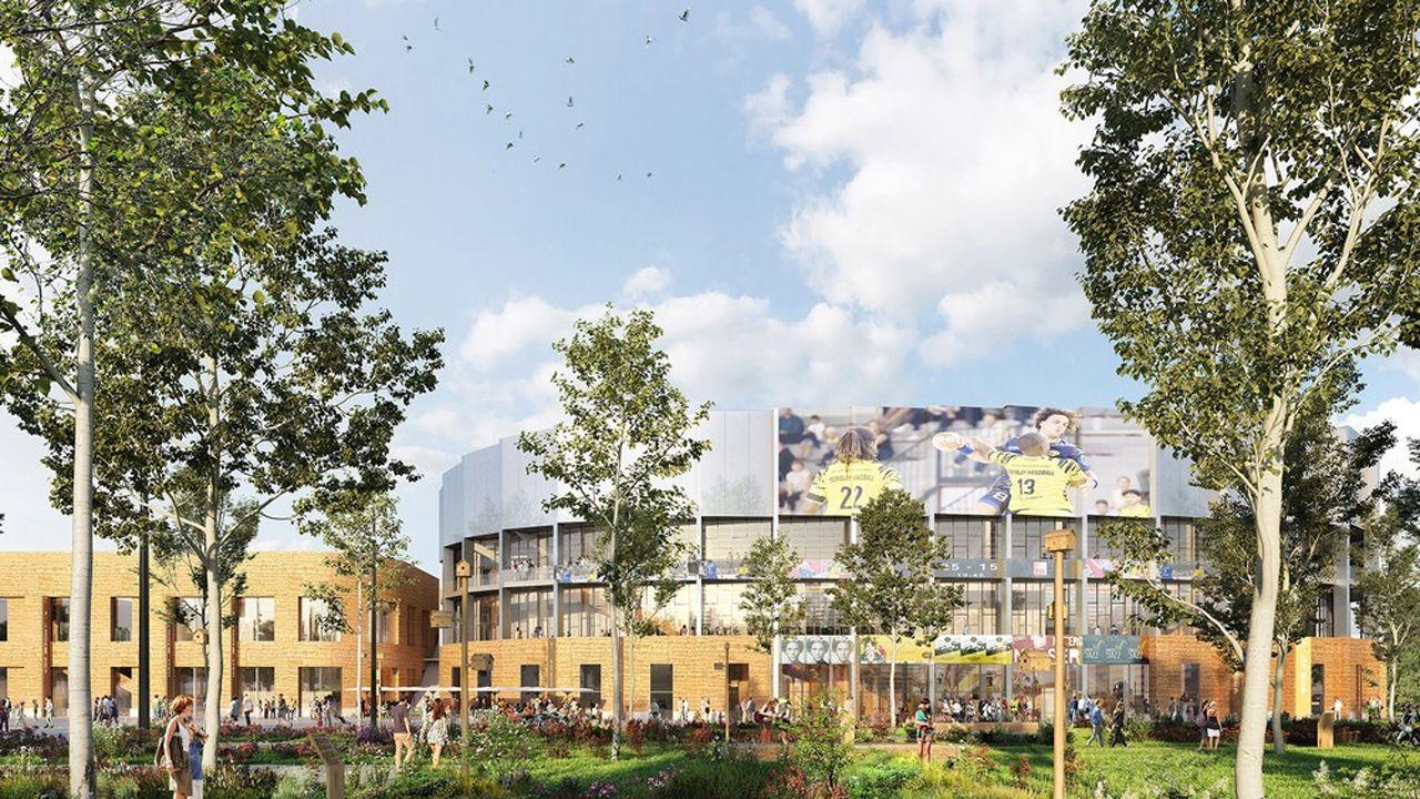 Le Colisée-Grand-Paris, enceinte culturelle et sportive, devrait ouvrir ses portes en janvier2024 à Tremblay-en-France.