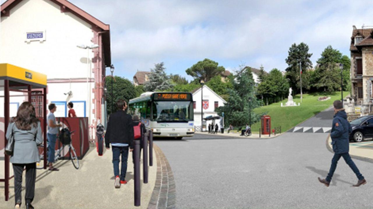 Les travaux de réaménagement du pôle gare de Juziers vont durer six mois