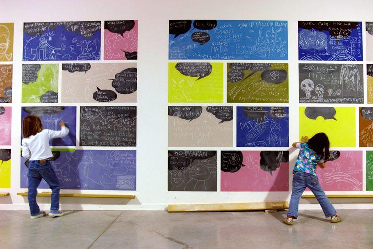 Installation d'art contemporain à La Sucrière.