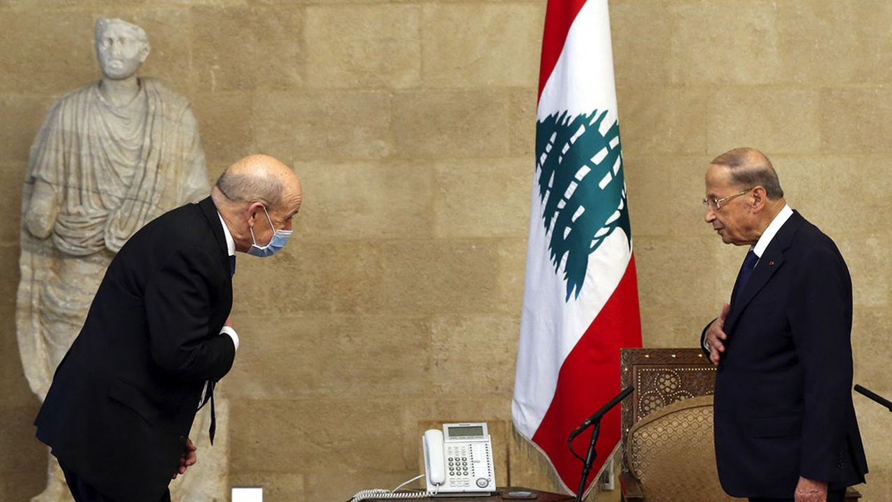 Le président libanais, Michel Aoun, a accueilli le ministre français des affaires étrangères, Jean-Yves Le Drian, à Beyrouth.