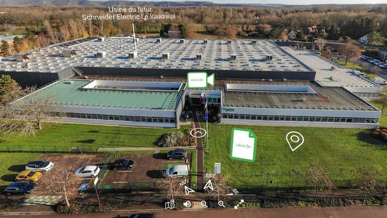 Le début de la visite virtuelle de l'usine de Schneider Electric du Vaudreuil, dans l'Eure.