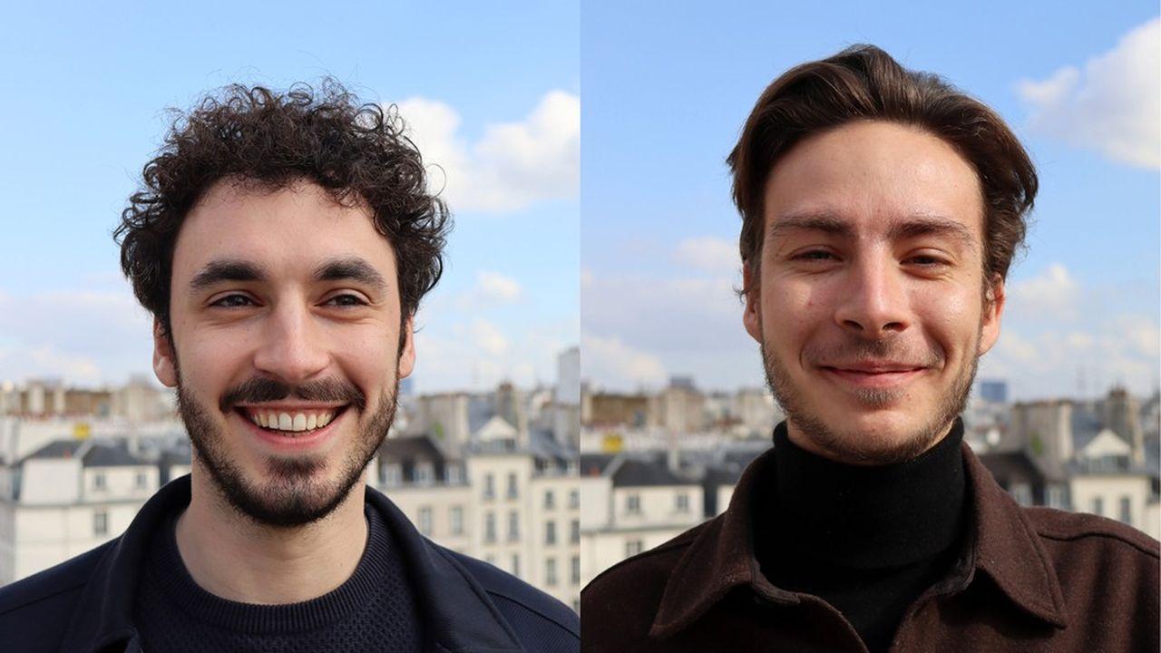 Rémy Fabre, à gauche, et Louis Lambert, à droite, les deux fondateurs de Zefir.