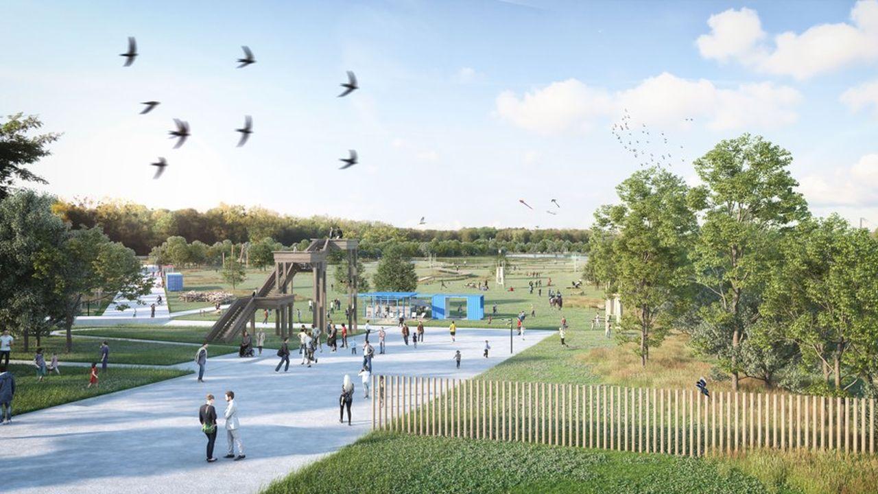 Le terrain des Essences à Dugny (Seine-Saint-Denis) sera réaménagé après avoir accueilli les épreuves de tir des Jeux de 2024