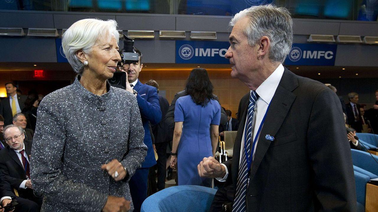 Dans le cadre de la revue stratégique lancée par Christine Lagarde, la BCE pourrait adopter un dispositif proche de celui de la Fed, dirigée par Jerome Powell.