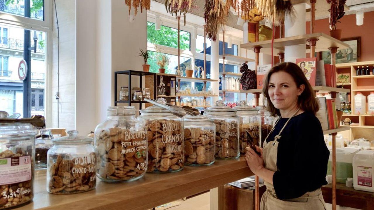 Miléna Knittl a ouvert son épicerie déchet avec son amie Jennifer Girault en décembre 2020.