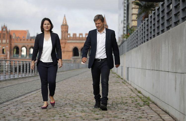 Annalena Baerbock et Robert Habeck, les deux dirigeants des Verts.