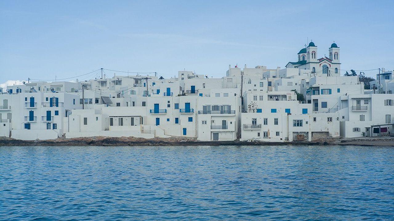 Le village de Naoussa, sur l'île de Paros, au coeur des Cyclades, en avril 2021.