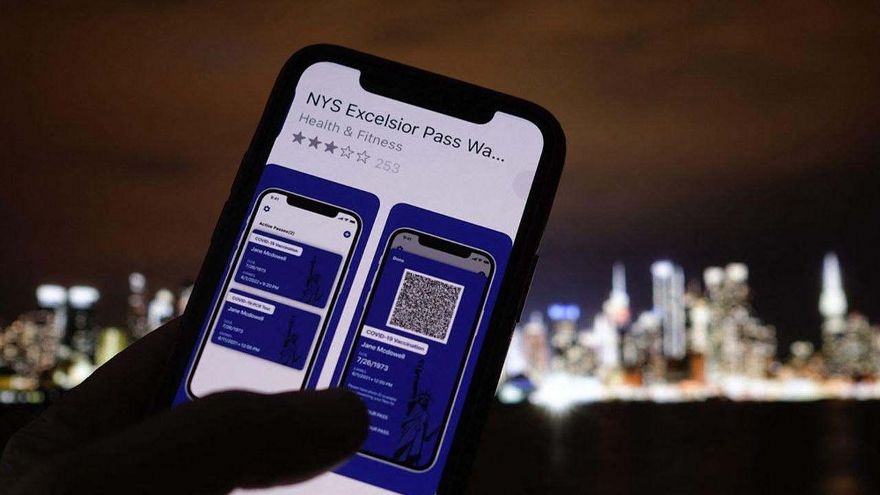 Aux Etats-Unis, l'Etat de New York est le seul à ce jour à avoir bâti son propre système de pass sanitaire, en collaboration avec IBM.