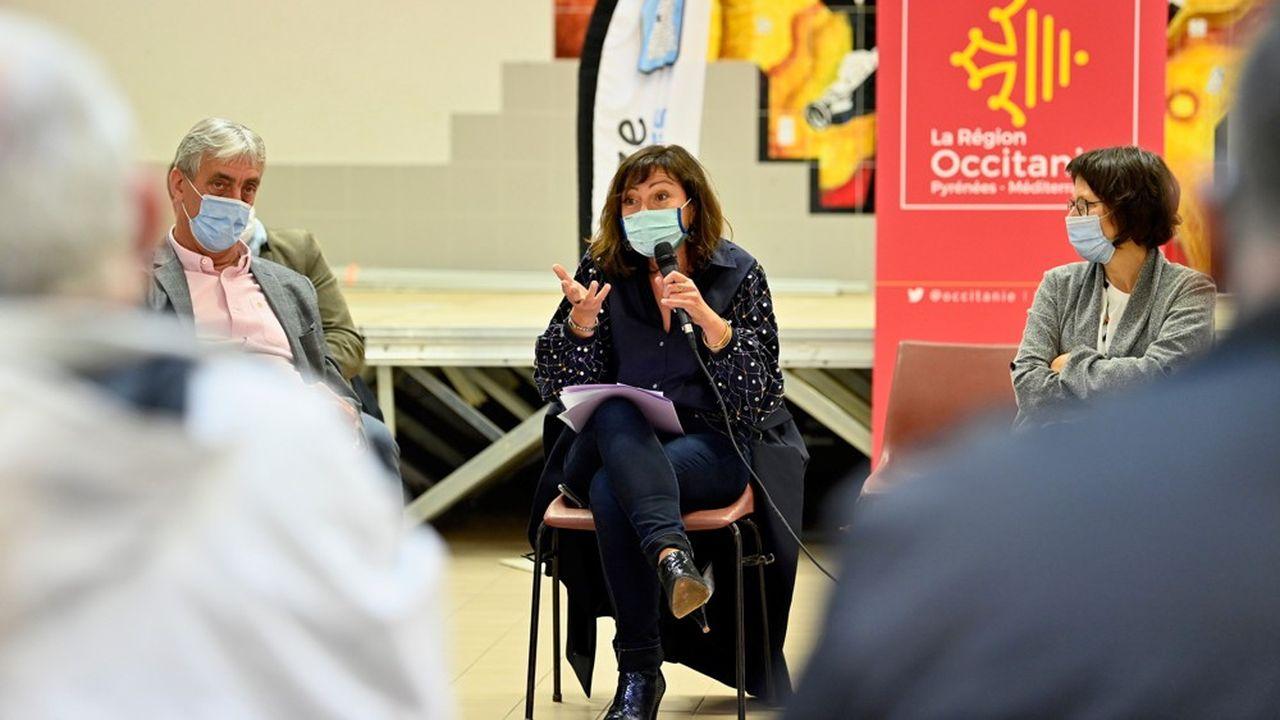 Carole Delga, présidente PS de la région Occitanie, était à Anduze le 10 mai.