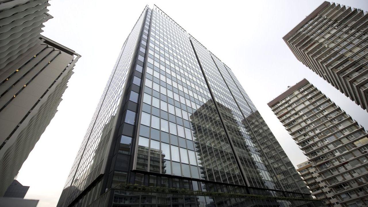 Immeuble, exterieur, facade finance