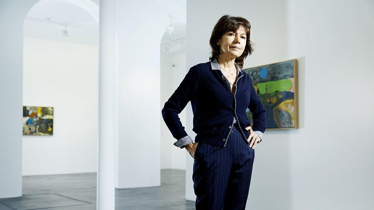 Nathalie Obadia, photographiée le 3 mai dans sa galerie du Marais, près du Centre Pompidou.
