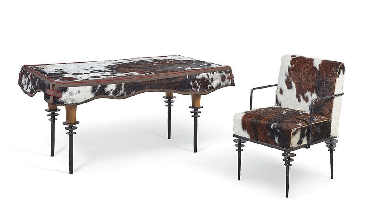 L'ensemble bureau et fauteuil « Rodéo», signé Garouste et Bonetti, est valorisé entre 20.000 et 30.000 euros.