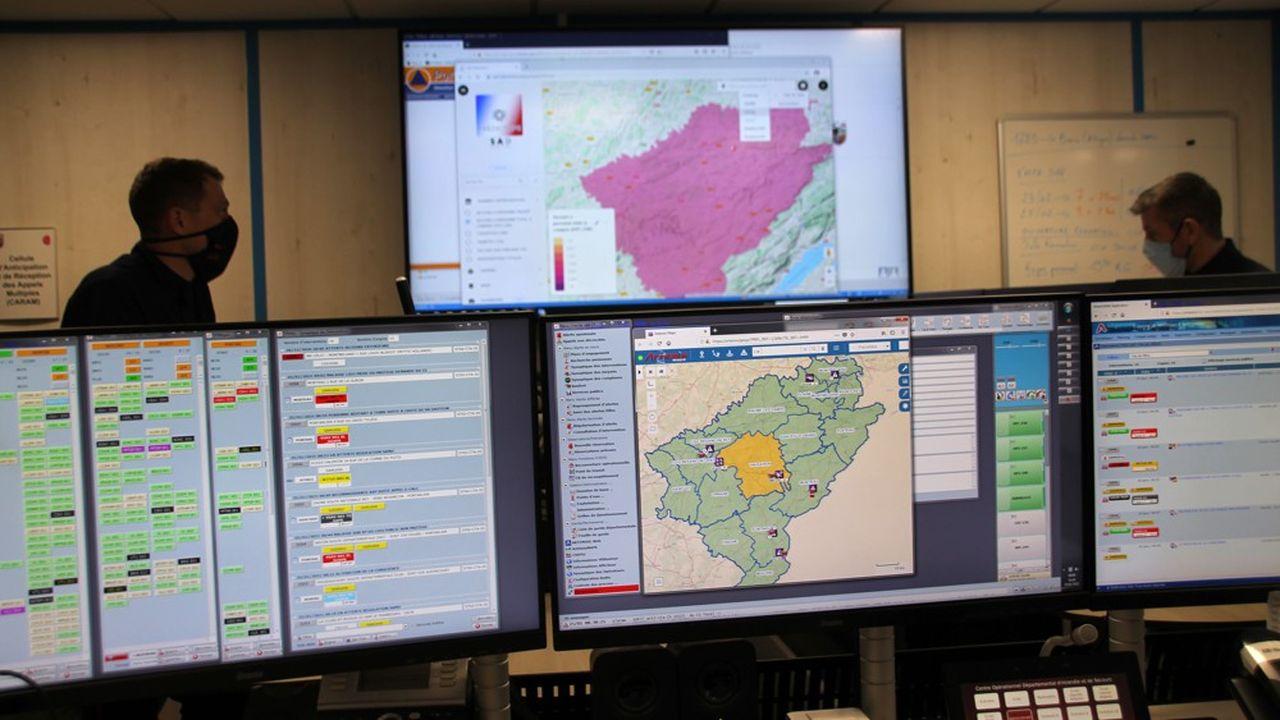 Le système PredictOps est déjà utilisé en salle opérationnelle par l'équipe du SDIS du Doubs.