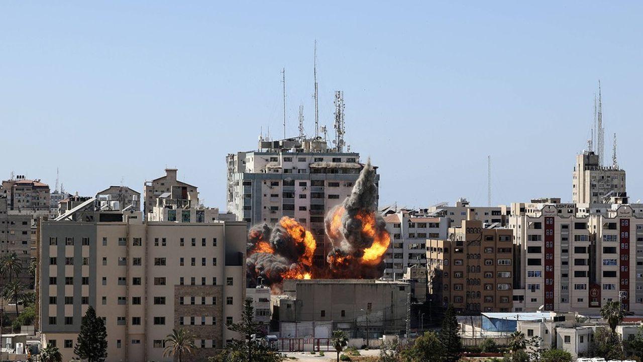Immeuble bombardé de l'agence américaine Associated Press à Gaza.
