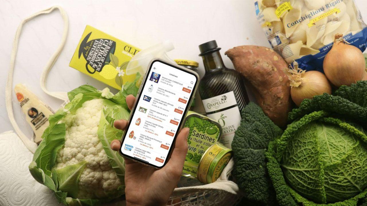 L'application génère des recettes et une liste de courses en fonction de votre régime alimentaire et de votre foyer.
