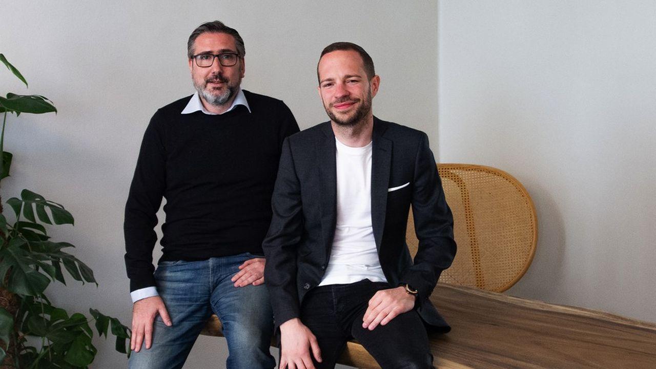 Ralph Ruimy (à gauche) et Franck Défossé (à droite) visent aussi d'autres marchés tels que celui de l'assurance auto.