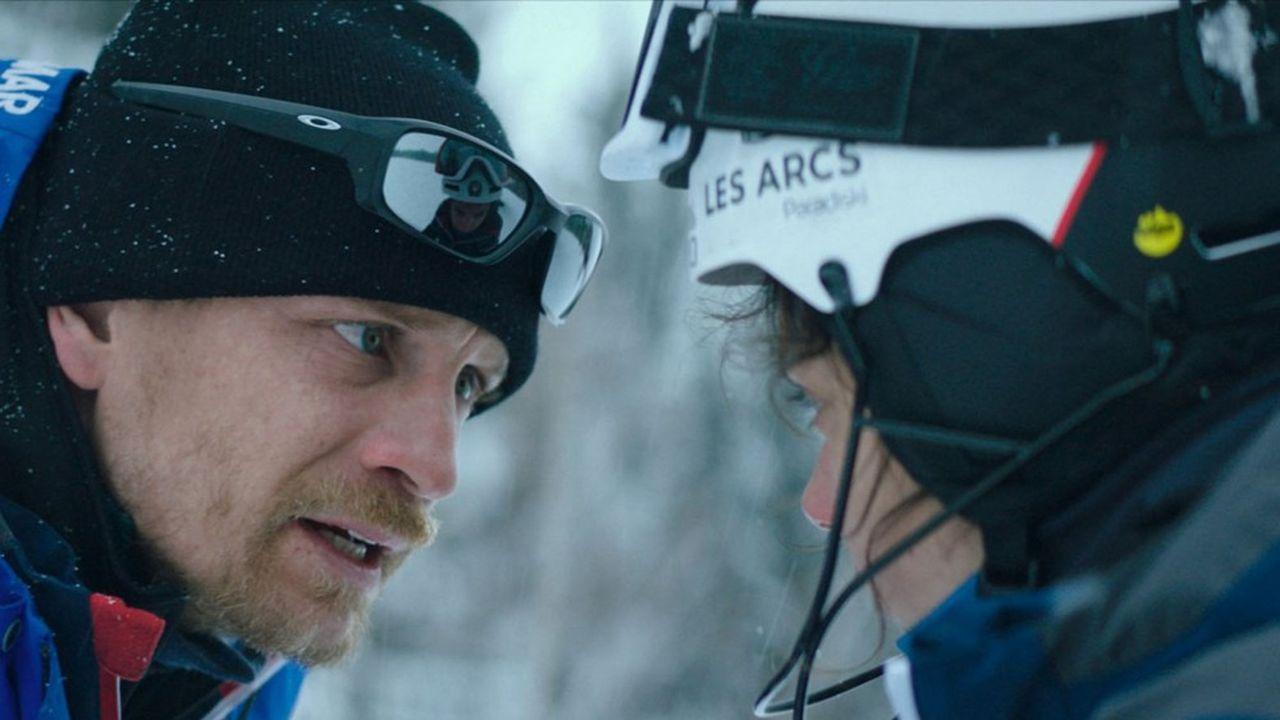 Jérémie Renier (Fred, l'entraîneur) et Noée Abita (Lyz, la championne de ski).