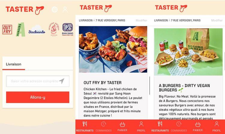 Capture d'écran de l'application Taster.