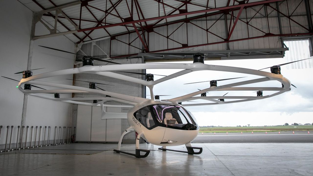 Volocopter veut lancer une filière «Mobilite Urbaine en Ile de France» avec le véhicule électrique à décollage vertical.