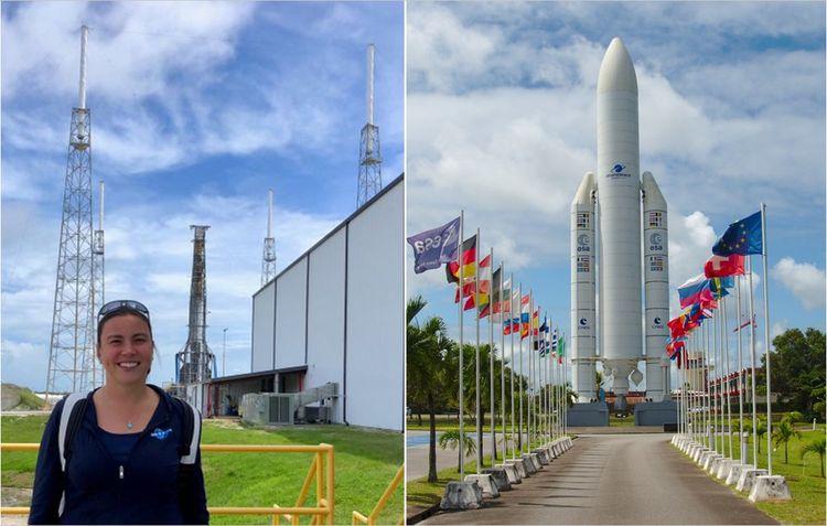 Elodie Viau a participé au décollage d'une dizaine de satellites, dont quatre à Kourou, en Guyane.