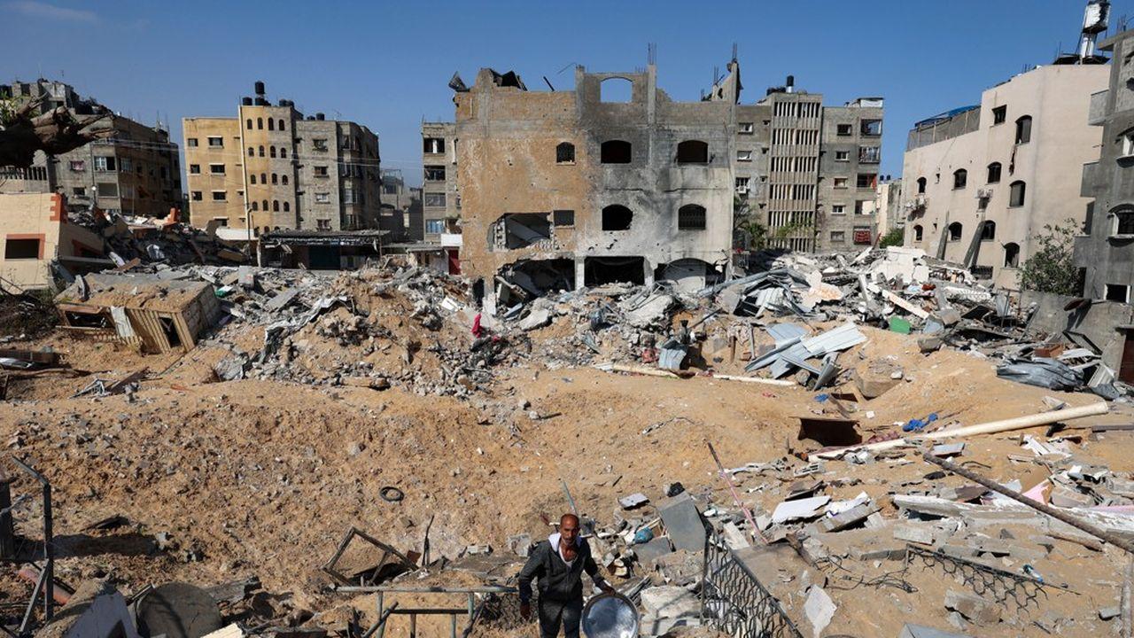 Les raids israéliens ont causé des destructions importantes sur la bande de Gaza.