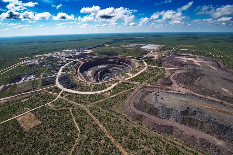 La mine de Karowe au Botswana, opérée par le canadien Lucara Daimond.