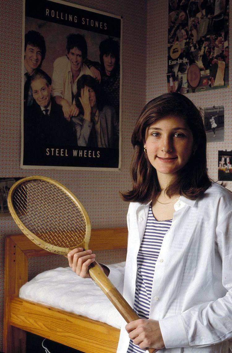 Amélie Castera en 1993. Elle a 15 ans et ira cette année-là en demi-finale junior de l'US Open.