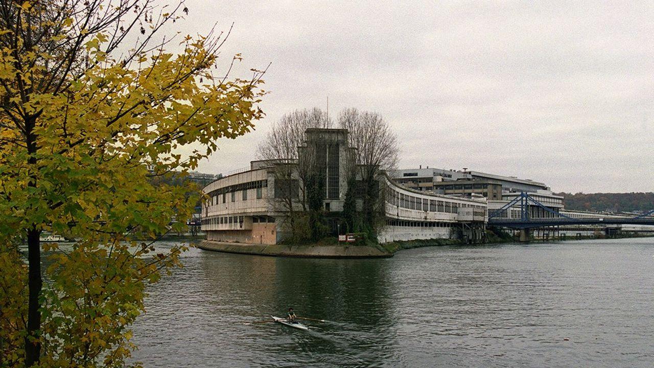 L'île Seguin en 2001.