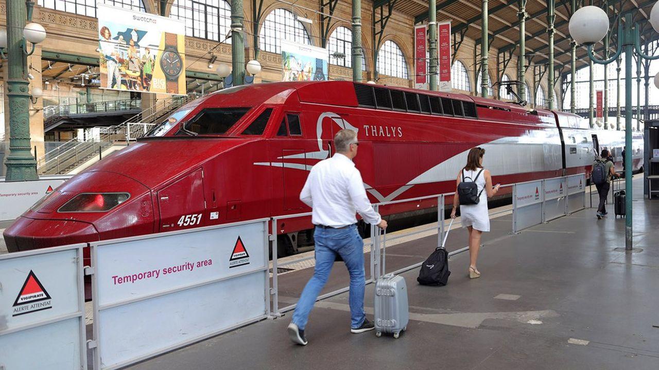 Le chiffre d'affaires de Thalys a plongé de 70% en 2020, à 165,6millions d'euros, affichant ainsi une perte nette de 137,7millions d'euros.