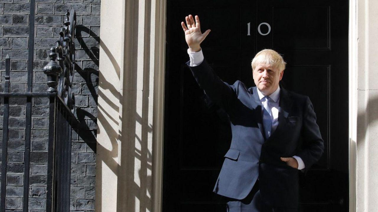 Boris Johnson à son arrivée au 10 Downing Street à London le 24juillet 2019.