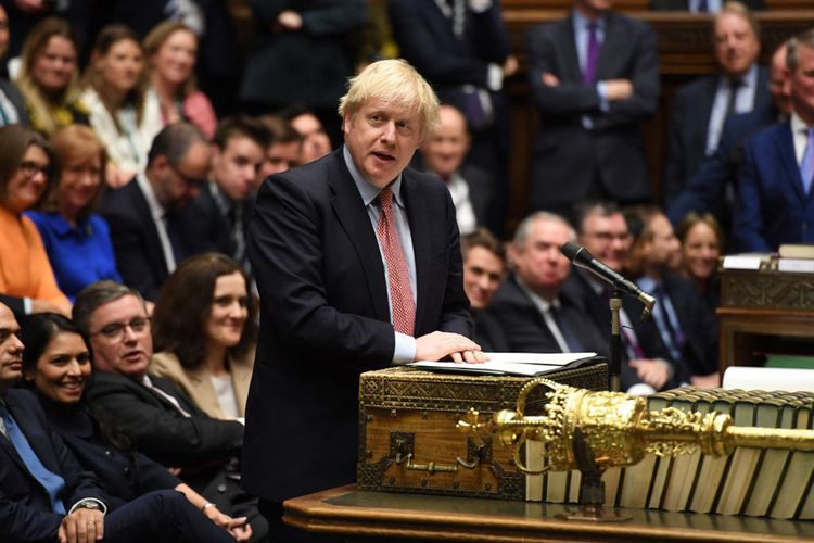 Boris Jonson au parlement britannique le 17 décembre 2019.