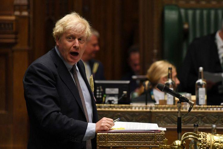 Boris Johnson à la Chambre basse le 9septembre 2020.